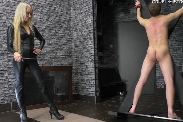 Mistress Ariel Whipping Young Slave - Oversensitive Slave -5866