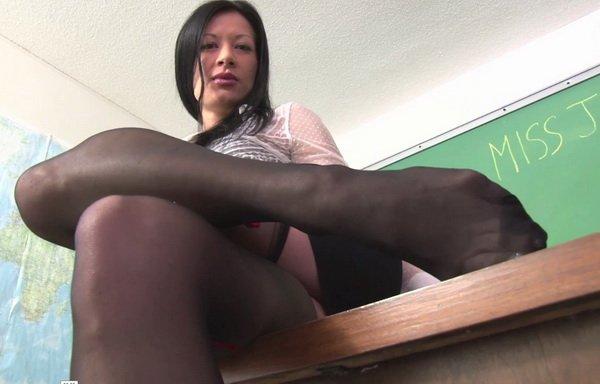 Miss Jasmine POV Foot Fetish - Teacher's Stocking Pet at ...