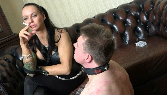 Cruel German Mistress Lady Chantal The Human Ashtray At Femdom