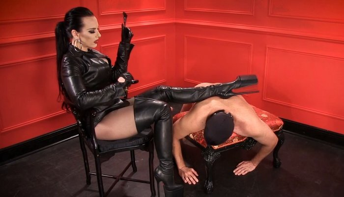 Boot Domination, Boot Owned Sole Licker with Mistress Nikita