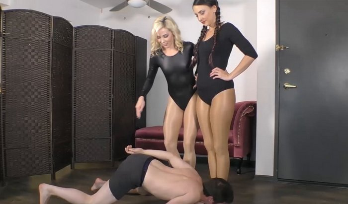Foot Slave Training, Ballet Flats Worship with Janira Wolfe and slave fluffy - Stella Liberty Video
