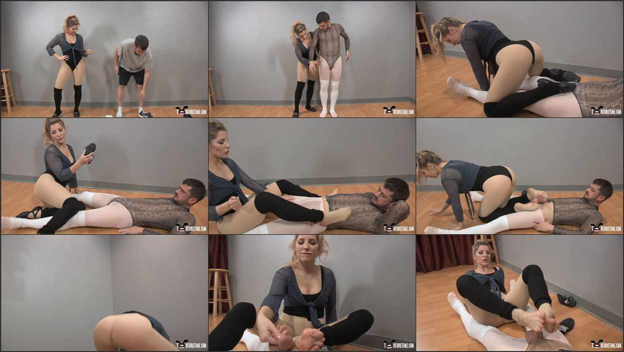 Ashley Dance Porn footjobs, ashley fires' intro to ballet for her special