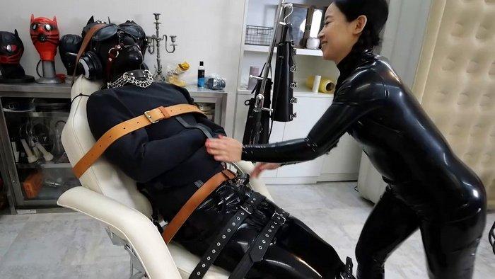 heavy bondage latex femdom